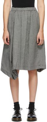 Comme des Garçons Comme des Garçons Black and White Wool Houndstooth Midi Skirt