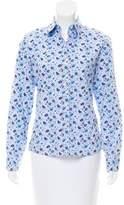 Lorenzini Floral Print Button-Up Top
