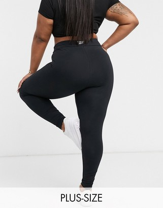 Reebok side logo leggings in black