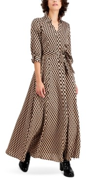 INC International Concepts Inc Petite Printed Maxi Shirtdress, Created for Macy's