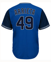 Majestic Men's Jake Arrieta Chicago Cubs Blue Steel Cool Base Jersey
