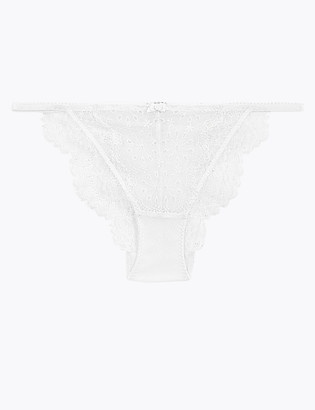 Marks and Spencer Broderie & Lace Tanga Brazilian Knickers