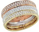 Effy Jewelry Moderna Tri-Color Diamond Ring, 0.56 TCW
