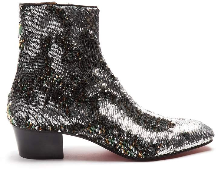 Christian Louboutin Huston sequin-embellished ankle boots