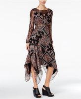 Jessica Simpson Ida Printed Handkerchief-Hem A-Line Dress