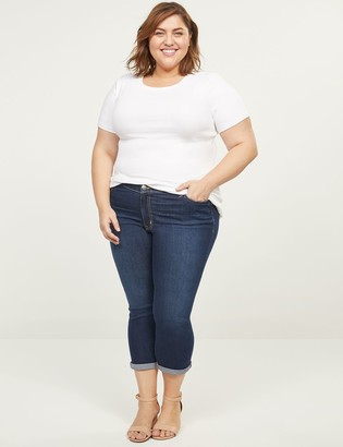 Lane Bryant Deluxe Fit Low-Rise Pedal Jean - Dark Wash