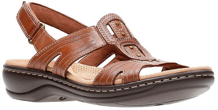c3454532f4f6 Clarks Leather Straps Women s Sandals - ShopStyle