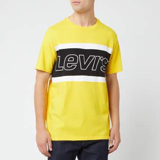Levi's Men's Color Block T-Shirt - Brilliant Yellow/White - S