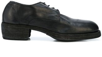 Guidi Round Toe Lace Up Derby Shoes