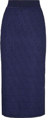 Fendi Monogram Knitted Skirt