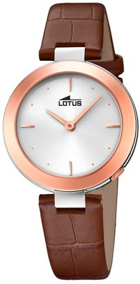 Lotus Quartz Watch with Real Leather Strap 18485/1