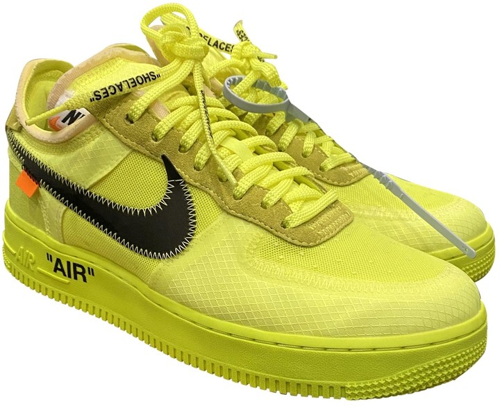 nike air force 1 off white yellow