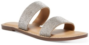 Wild Pair Ginnie Double-Band Flat Sandals, Created for Macy's Women's Shoes