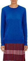 Proenza Schouler Women's Superfine-Knit Wool Sweater-BLUE