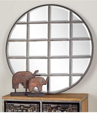 Uma Silver/Reflective Modern Wood Wall Mirror