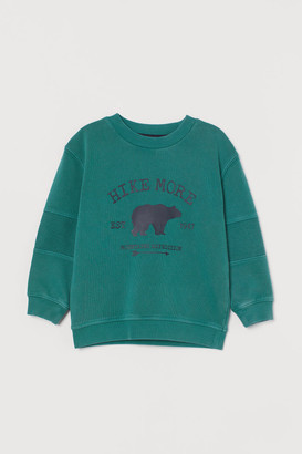 H&M Printed Sweatshirt - Turquoise
