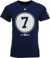 Majestic Men's Mickey Mantle New York Yankees Cooperstown Pinstripe Number T-Shirt