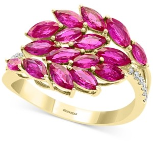Effy Certified Ruby (2-1/3 ct. t.w.) & Diamond Accent Statement Ring in 14k Gold