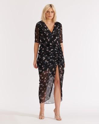 Veronica Beard Mariposa Windswept-Floral Dress