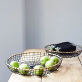Graham and Green Round Wire Baskets Set Of Two