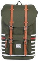 Herschel Men's Little America Offset Backpack - Green