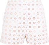 Markus Lupfer Rosannah Cotton-blend Jacquard Shorts - Ivory