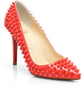 Christian Louboutin Pigalle 100 Spiked Patent Leather Pumps