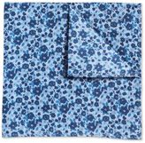 Charles Tyrwhitt Sky and navy floral classic pocket square