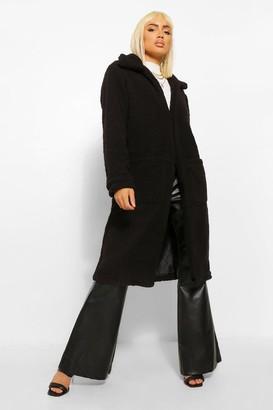 boohoo Longline Teddy Faux Fur Coat