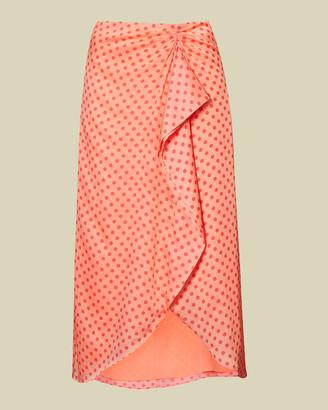 Ted Baker TIARA Contrast spot wrap skirt