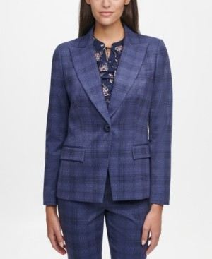 Tommy Hilfiger Plaid Single-Button Blazer