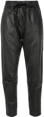 Ginger & Smart Tapered Leather Trousers