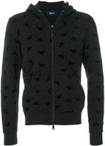 Armani Jeans textured logo zip hoodie