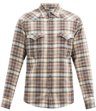 Isabel Marant Pitt Tartan-jacquard Cotton-twill Shirt - Brown Multi