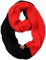 C&C C.C Unisex College High School Sport Team Color Two Tone Winter Knit Scarf