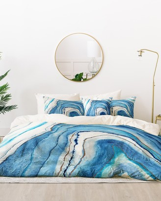 Express Deny Designs Agate Inspired Watercolor Abstract Bedding Set