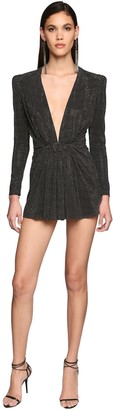Saint Laurent Belted Jersey Mini Dress