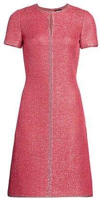 St. John Luxe Sequin Knit Studded Dress