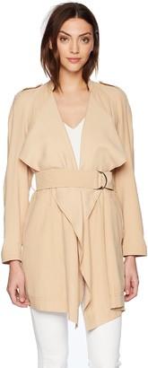 GUESS Women's Long Sleeve Cali Trench Coat
