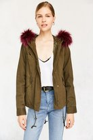 Silence & Noise Silence + Noise Bright Nights Faux Fur Anorak Jacket