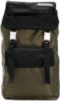 Marni bi-colour backpack - men - Cotton/Calf Leather/Acrylic/Polyamide - One Size