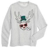 Stella McCartney Kids Biz Reindeer Graphic Sweatshirt (Toddler Girls, Little Girls & Big Girls)