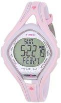 Timex Women's T5K506DH Ironman Sleek 150-Lap Pink and White Resin Strap Watch