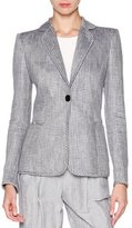 Giorgio Armani Houndstooth One-Button Jacket
