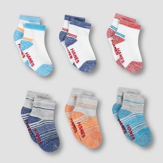Hanes Baby Boys' 6pk Ankle Socks Colors May Vary