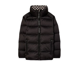 Tory Burch Triangle Geo-Lined Down Jacket