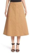 Lafayette 148 New York Women's Rosella Stretch Cotton Midi Skirt
