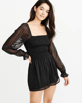 Abercrombie & Fitch A&F Women's Smocked Romper in Black - Size XL