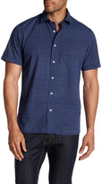 Toscano Short Sleeve Dot Print Regular Fit Shirt
