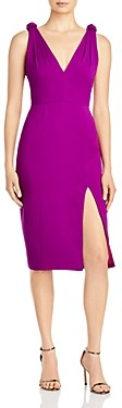 Jay Godfrey Violet Side Slit Sheath Dress